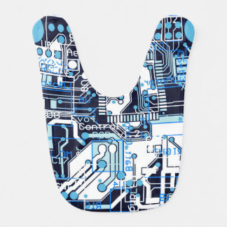 Blue Circuit Board Bib