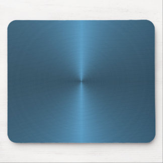 blue circular brushed mouse mat