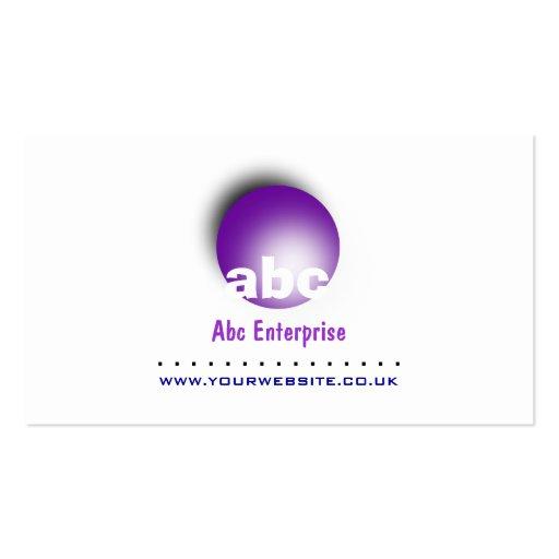 Blue Circular Logo Business Card