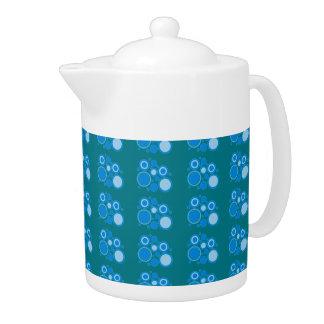 Blue Circular Pattern Medium Teapot