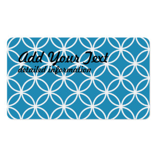 Blue Circular Pattern Pack Of Standard Business Cards