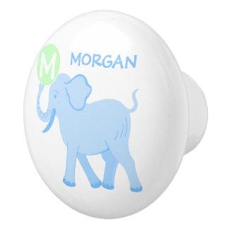 Blue Circus | Baby Boy Nursery Elephant Ball Fun Ceramic Knob