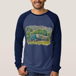 Blue Cistern Tanker Truck Driver Gear Tee Shirt