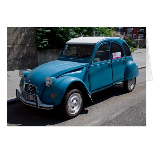 Blue Citroën 2CV Card