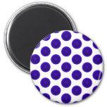 Blue Citrus Slices Polka Dots Refrigerator Magnet