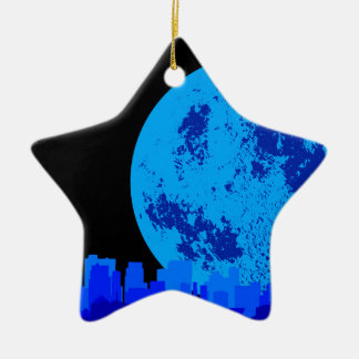 Blue CIty Ceramic Star Decoration