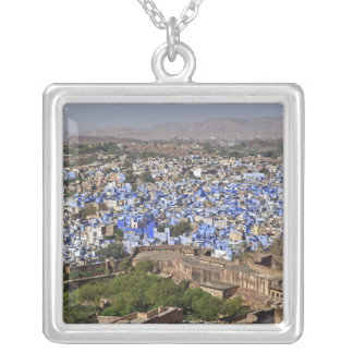 Blue City viewed from Mehrangarh Fort / Jodhpur, Silver Plated Necklace