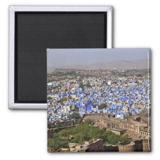 Blue City viewed from Mehrangarh Fort / Jodhpur, Square Magnet