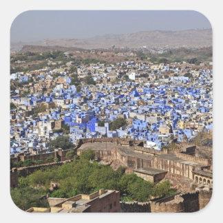 Blue City viewed from Mehrangarh Fort / Jodhpur, Square Sticker