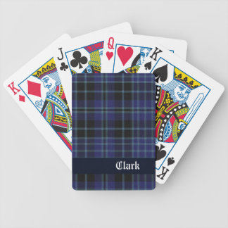 Blue Clark Scottish Plaid Playing Cards