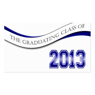 Blue Class of 2013 Name Cards Business Card Template