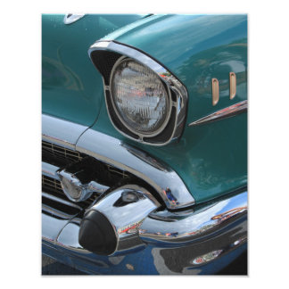 Blue Classic Car Photograph