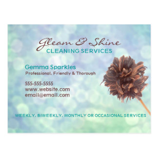 Blue Cleaning Services Business card postcard
