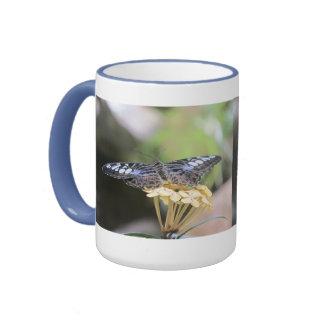 Blue Clipper Butterfly Ringer Mug