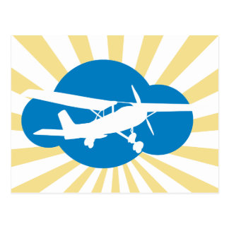 Blue Cloud & Aviation Plane Postcards