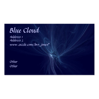 Blue Cloud Pack Of Standard Business Cards