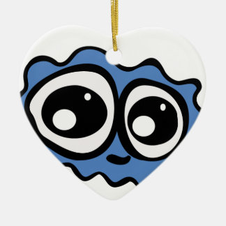 Blue Cloud Christmas Ornament