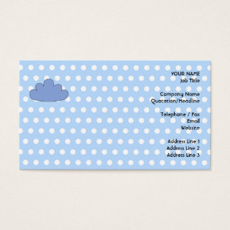 Blue Cloud on Blue and White Polka Dots.