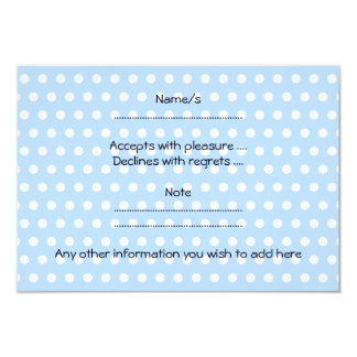 Blue Cloud on Blue and White Polka Dots. 9 Cm X 13 Cm Invitation Card