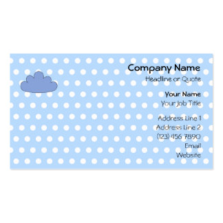 Blue Cloud on Blue and White Polka Dots. Pack Of Standard Business Cards