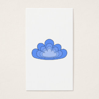 Blue Cloud on White Background.
