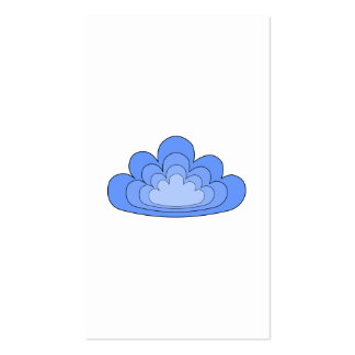 Blue Cloud on White Background. Business Card Template