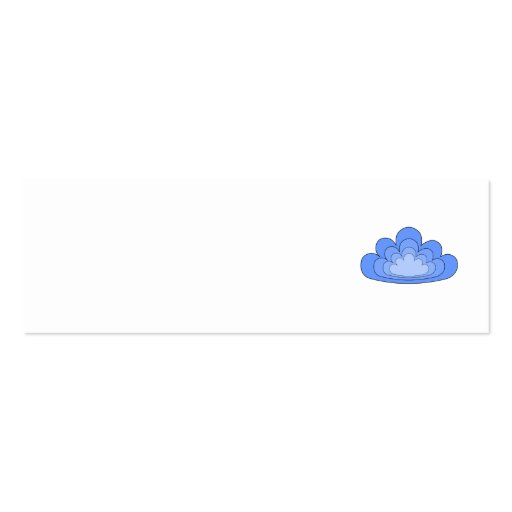 Blue Cloud on White Background. Business Card