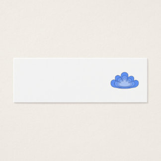 Blue Cloud on White Background. Mini Business Card