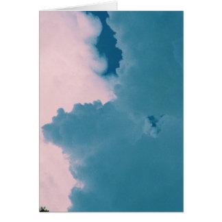 blue cloud white cloud greeting card