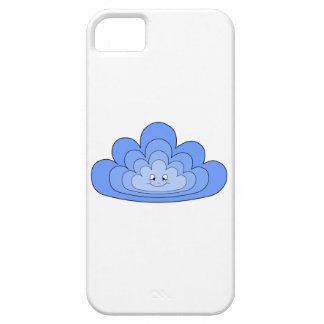 Blue Cloud with Smile on White. Barely There iPhone 5 Case