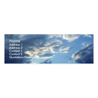 Blue Clouds Pack Of Skinny Business Cards