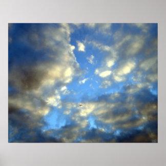 Blue Cloudy Sky Motivational Poster Print