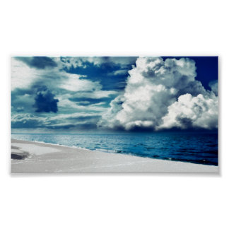 Blue cloudy sky posters