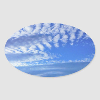 blue cloudy sky sticker