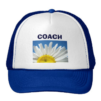 Blue Coach sports hats White Daisy Flower School