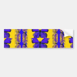 Blue Cobalt Butterfly Gold Gifts by Sharles Bumper Sticker