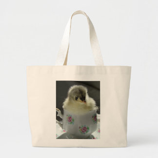 Blue Cochin Chick in Teacup Jumbo Tote Bag