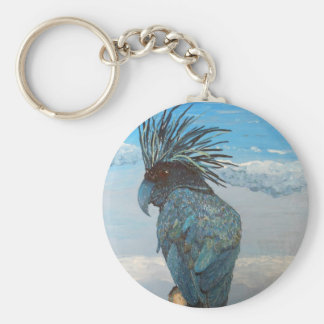 Blue Cockatoo Keychain