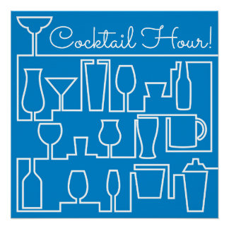Blue cocktail party