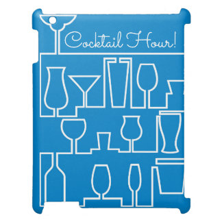 Blue cocktail party case for the iPad