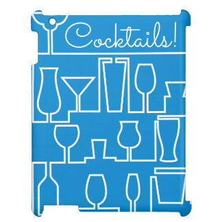Blue cocktail party iPad cases