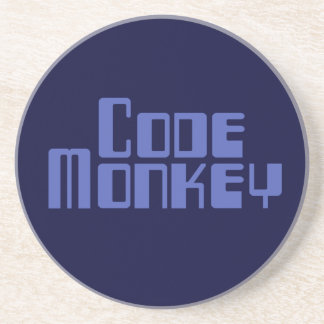 Blue Code Monkey Coaster