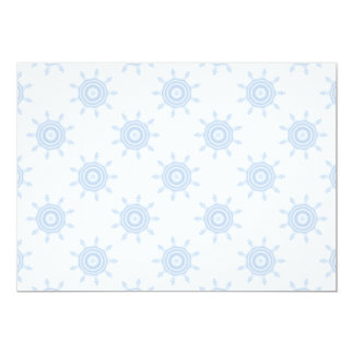 Blue Cog Wheels. Fractal Circles Pattern. Card