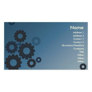 Blue Cogs - Business Business Card Template