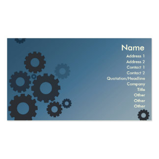 Blue Cogs - Business Pack Of Standard Business Cards