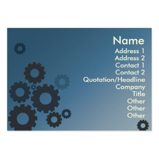 Blue Cogs - Chubby Pack Of Chubby Business Cards