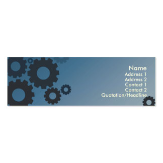 Blue Cogs - Skinny Business Card Template