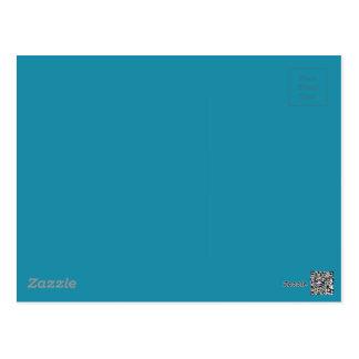 Blue Color 1 Postcard