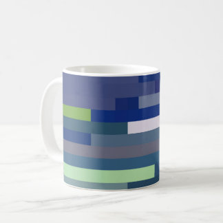 Blue Color Stripe Mug