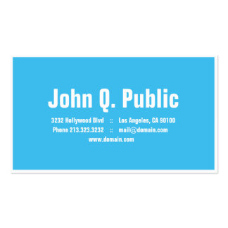 Blue Color with White Frame Business Card